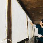 リフォーム体験ー1/14漆喰塗り、1/20パネル設置