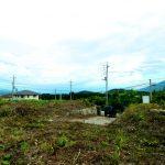 0805【土地】韮崎市穴山町750万円。富士山をのぞむ300坪